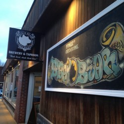 Maine beers are popular at Black Bear Brewery taproom