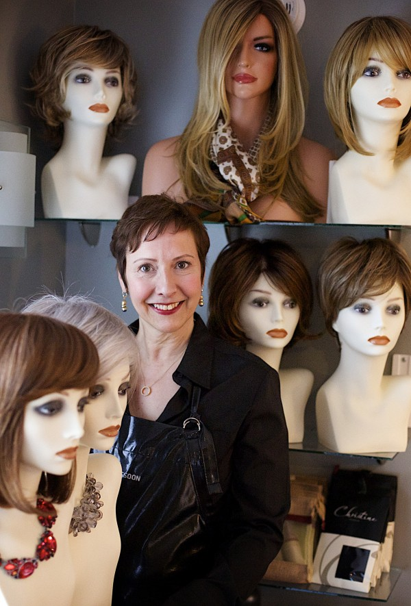 Charlene Boggins of Veazie owns Nourish Salon, where she works with women going through cancer treatment and facing hair loss. She coaches them through the hair loss process, what options are available for wigs and other head coverings and helps them when their hair grows back in.
