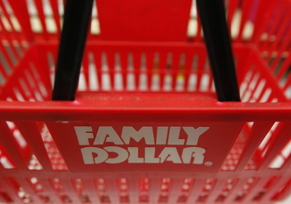 A Family Dollar logo is seen on a shopping basket in Chicago in this June 25, 2012 file photograph.