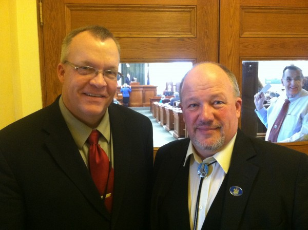 State Reps. James Gillway, R-Searsport, and Allen Michael Nadeau, R-Fort Kent.