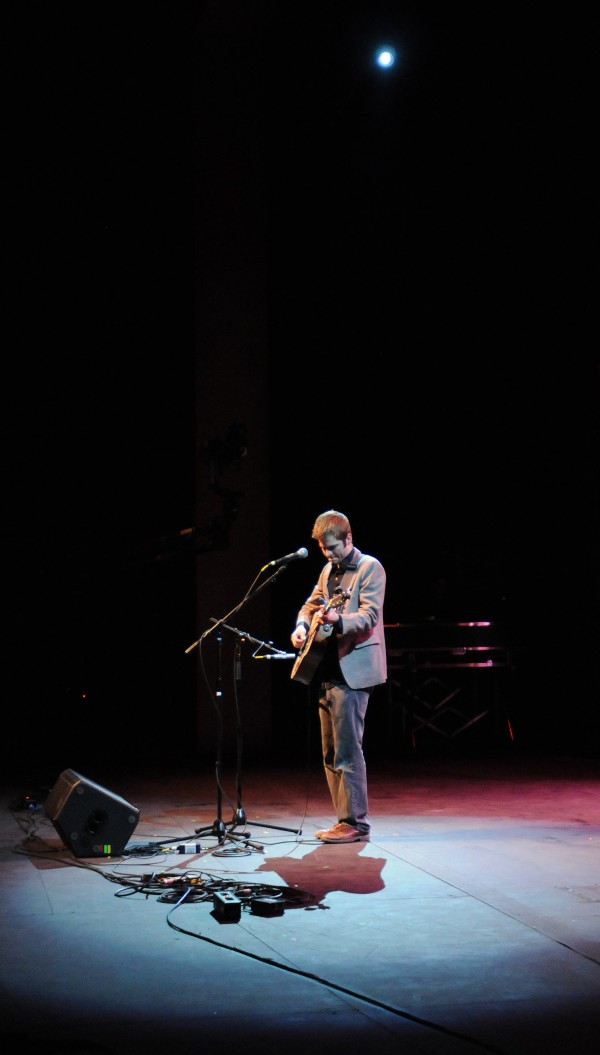 James Gilmore performs on stage at the Gracie Theater on the Husson University campus during the Acoustic Showcase for the Multiple Sclerosis Society on Friday.