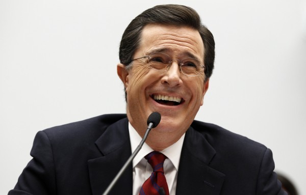Stephen Colbert, host of Comedy Central's &quotThe Colbert Report&quot, testifies before the Immigration, Citizenship, Refugees, Border Security, and International Law Subcommittee hearing on Protecting America's Harvest on Capitol Hill in Washington in this September 24, 2010 file photo.