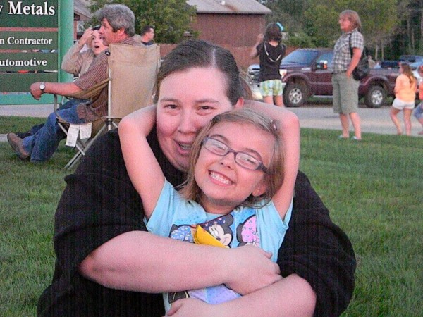 Wynter Przybylski with her mother, Lisa Przybylski. Wynter was diagnosed with cancer this winter and has been undergoing treatment. Community members have launched multiple events and fundraising drives to help Wynter's family with medical expenses.