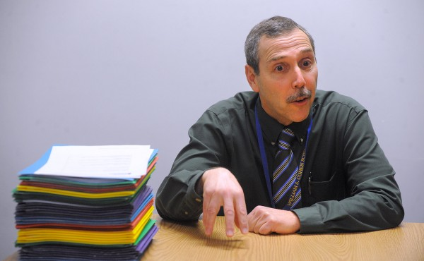 Gary Gonyar, principal of William S. Cohen School in Bangor, pictured in March, discusses his school's upcoming transition to a new standardized test.