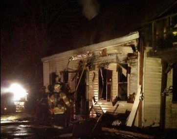 A fire Tuesday night destroyed a home on Gardiner Road in Wiscasset.