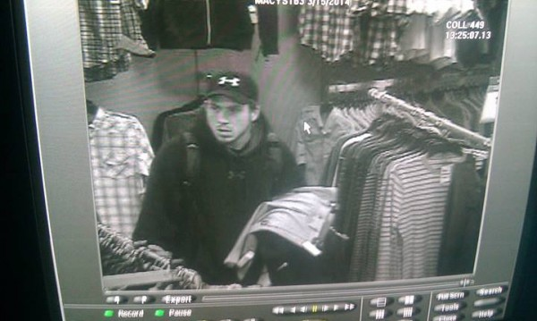 Those with information about the man pictured at a Bangor Mall store on March 15 are asked to call Officer Ben Paradis at 947-7384 ext. 5786.