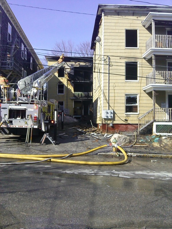 Kenji Yamauchi of Oak Street in Lewiston said he heard an explosion at about 4:30 a.m. Thursday, and could see the fire at 23 Howe St. from his window.