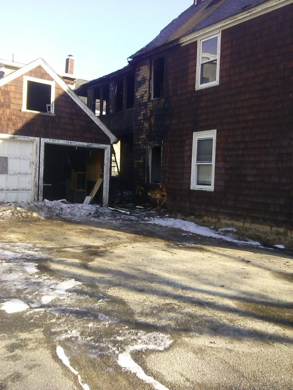 A fire at 40 Nichols St. in Lewiston was one of four that burned early Thursday morning.