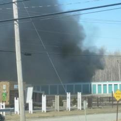 Accidental alarm - fire trucks on Main St. in Bangor