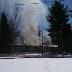Firefighters from Mattawamkeag, Lincoln stop Winn trailer fire