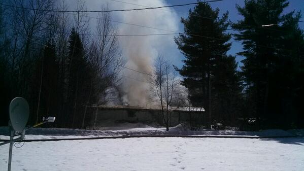 One person is missing following a fire in Chester on Thursday morning.