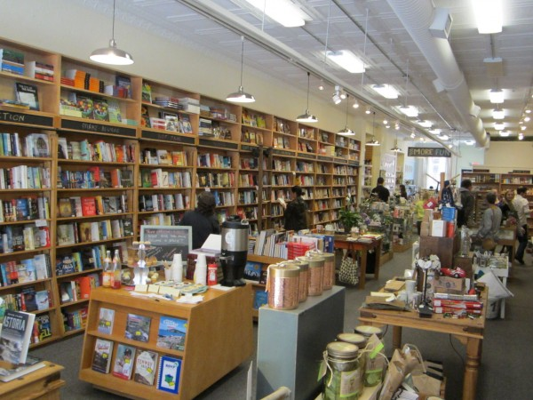 Shoppers explore the new Sherman's Books and Stationery store on Exchange Street in Portland. The store is the Maine-based independent bookseller's fifth location.