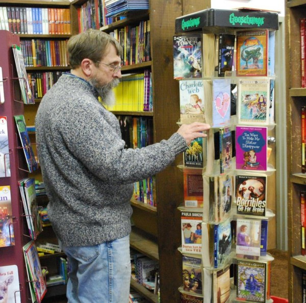 Bill Olsson said he normally shops the Annie's Book Stop in Wells, but spent part of Friday afternoon, March 28, at the Portland store, which closed Saturday after 30 years in business.