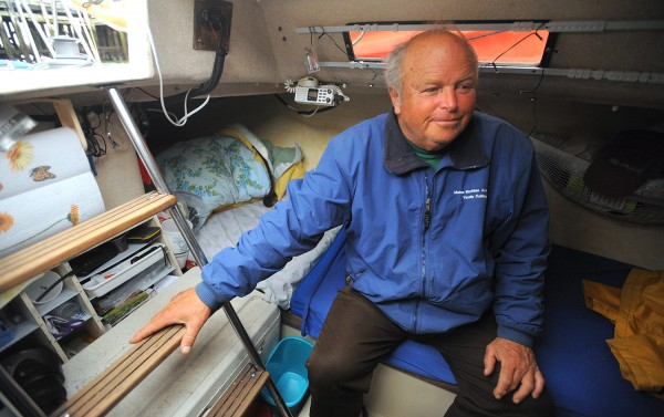 Frederick &quotButch&quot Minson, 68 of Verona Island complteted a voyage to Florida and back on his Lindenberg 28 sailboat the Cats Paw.  Minson left Maine in October 2013 and sailed solo to Florida where his wife Janice Minson joined him to cruise the Florida coast and celebrate their 30th wedding anniversary.   Butch said the Lindenberg 28 was designed for racing with few creature comforts in mind.  As if someone took a sports car for a camping trip, instead of a Winnebago.