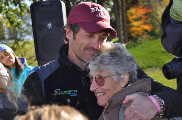 Patrick Dempsey and his mother, Amanda Dempsey.