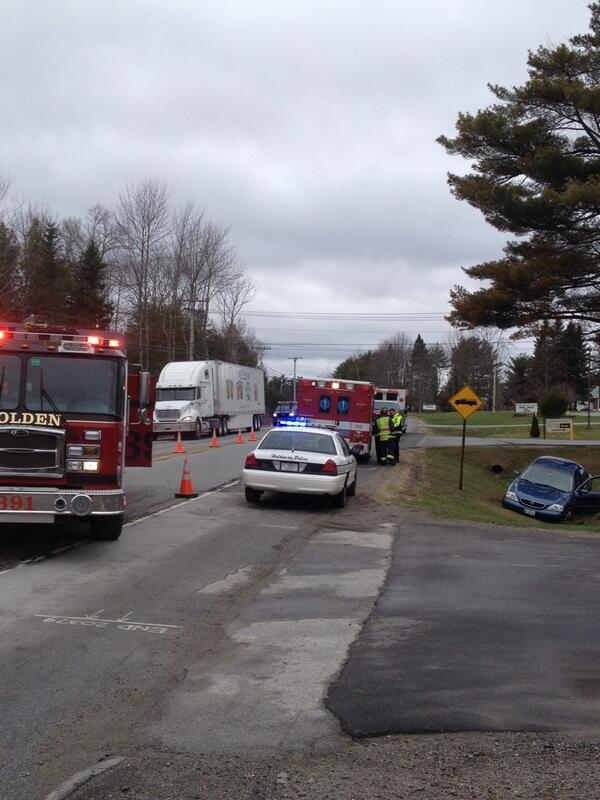 Police are investigating a single-vehicle accident on Route 1A in Holden on Monday morning.