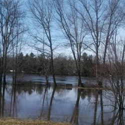 Kennebec River under flood warning
