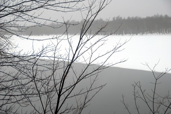 The thawing of the Penobscot River could spell trouble downriver, but water levels remained relatively low near Lincoln on Saturday, April 5, 2014.