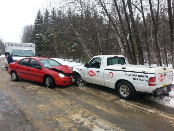 Two drivers were injured Saturday morning when these two vehicles collided head-on on Pond Road in Silver Ridge Township, according to Maine State Police.