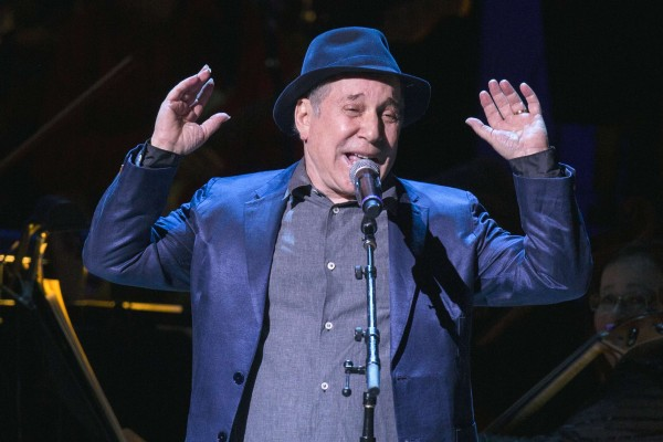Singer Paul Simon performs during the Rainforest Fund's 25th anniversary benefit concert in New York April 17, 2014.