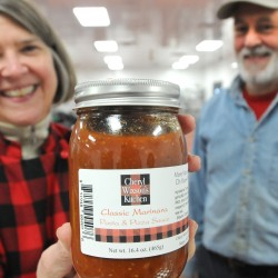 Sharing the goodies: Woman fills pantries with taste-tempters galore