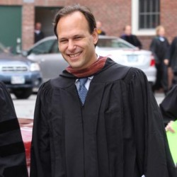 Brad Choyt, center, at an Oct. 5, 2011, ceremony marking his installation as head of school at North Yarmouth Academy in Yarmouth.