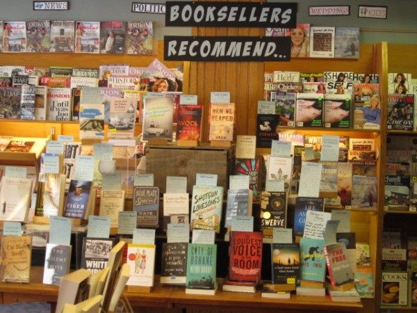 Longfellow's Books in downtown Portland highlights reader recommendations.