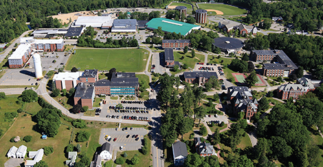 his University of Southern Maine aerial photograph depicts the school's Gorham campus.