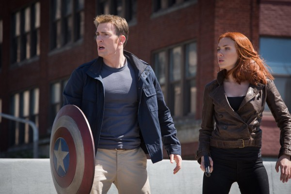 Chris Evans (left) and Scarlett Johansson in &quotCaptain America: The Winter Soldier.&quot