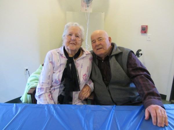 George and Marian Benson celebrated their 60th wedding anniversary Sunday.