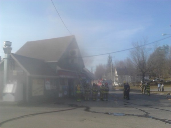 Firefighters from Dexter and several surrounding towns were called to Dexter Variety early Friday evening to battle a blaze that resulted has shut down the Spring Street small business.