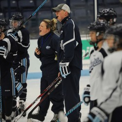UMaine women's hockey coach Lewis still on administrative leave for team's opener