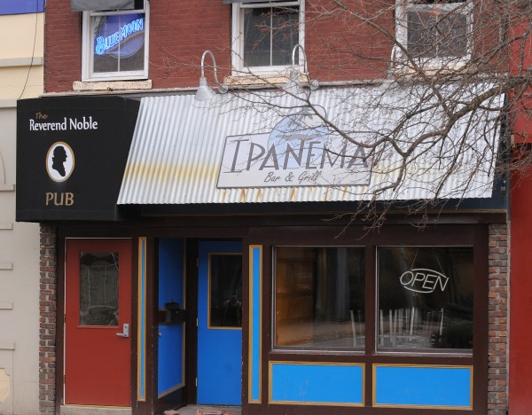 The Reverend Noble Pub and the Ipanema Bar and Grill in West Market Square are among the businesses that will be affected by the upcoming construction project.