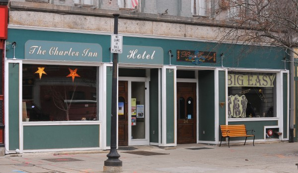 The Charles Inn and the Big Easy Lounge and Cafe in West Market Square are among the businesses that will be affected by the upcoming construction project in downtown Bangor.