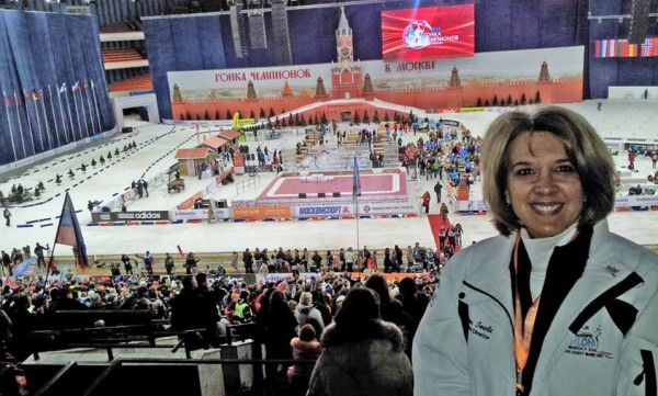 Jane Towle, who was the event director for 2014 IBU World Youth/Junior Biathlon Championships held at the Nordic Heritage Center in Presque Isle, spent a few days in Moscow this month as an invited guest of the Russian Biathlon Union. Towle attended an end-of-the-season celebration and exhibition that was held at the Moscow Forum, as well as met with IBU officials. Presque Isle will host a World Cup event in February 2016.