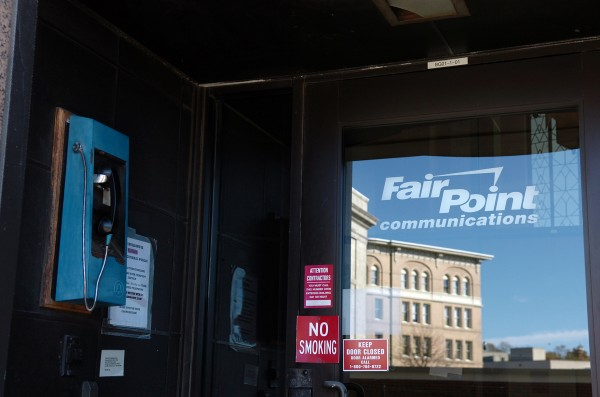 The Bangor office entrance of FairPoint Communications in this October 2009 file photo.