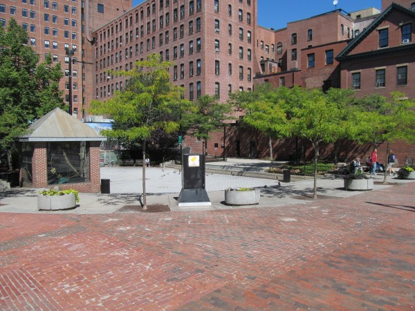An October 2013 file photo of Congress Square Park in Portland.