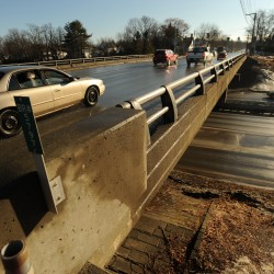 Traffic still detoured as work continues on Joshua Chamberlain Bridge,