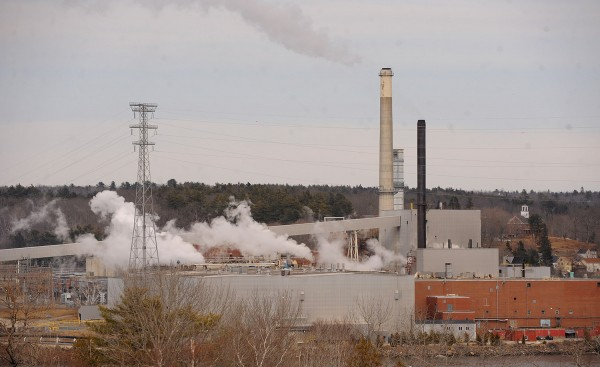 The Verso paper mill in Bucksport on Wednesday.