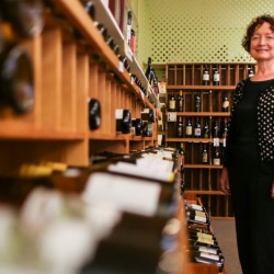 Connie Koengeter, owner of Cork & Barrel in Falmouth, is closing the Route 1 store after 22 years in business.