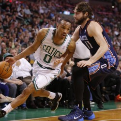 Celtics capitalize on James' absence, knock off Heat