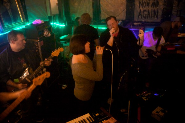 Portland band Sunset Hearts performs Friday night at a farewell show for its longtime practice space on Thompson's Point. The building is slated for demolition as the point is redeveloped.