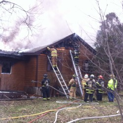Attic fire damages uninsured Brunswick home