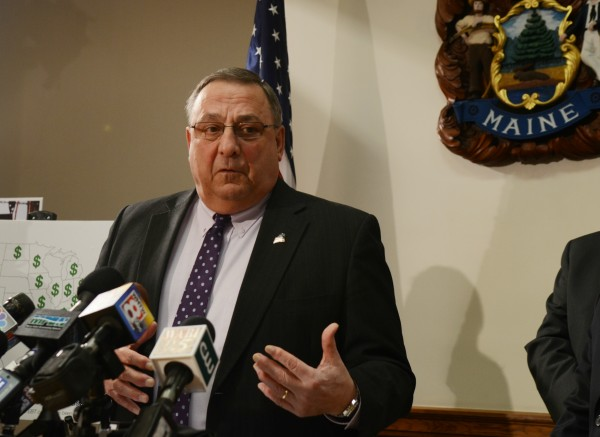 Gov. Paul LePage discusses his welfare reform proposals in this March 2014 file photo.