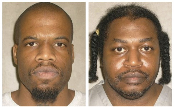 Death row inmates Charles Warner and Clayton Lockett seen in pictures from the Oklahoma Department of Corrections