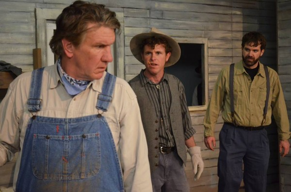 Mike McFarland, Peter Coleman and Bryan Lescord in &quotOf Mice and Men&quot