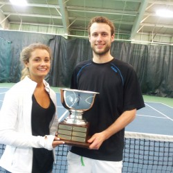 Margaret Silverman Women's singles winner and Michael Hill Men's open  winner.