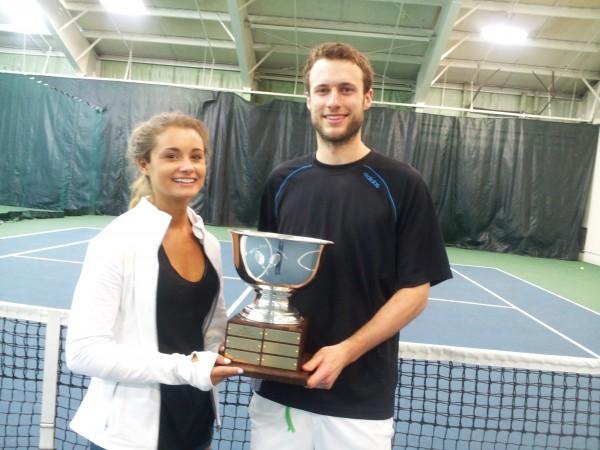 Margaret Silverman Women's singles winner and Michael Hill Men's open  winner.