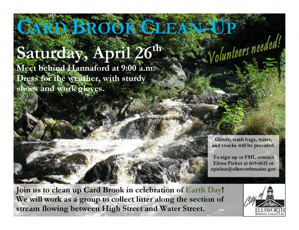 Celebrate Earth Day in Ellsworth by cleaning up Card Brook.