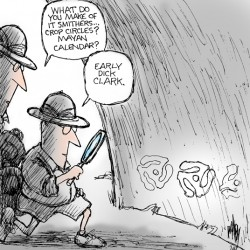 As he draws it: Danby's Olympic security cartoon